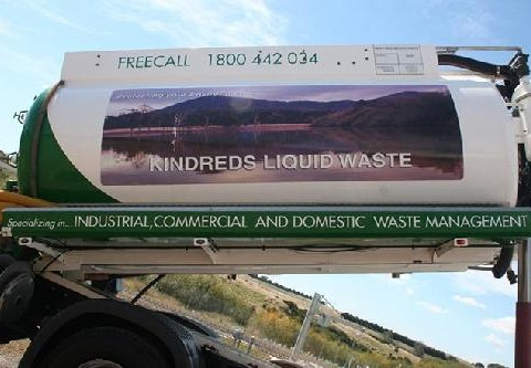Commercial waste management truck